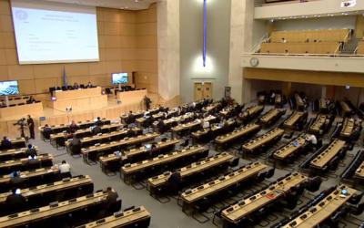 အဖွဲ့ဝင်နိုင်ငံများနှင့် အရပ်ဘက် လူမှုအဖွဲ့အစည်းတို့ အပြန်အလှန် ဆွေးနွေးပွဲ၌ မြန်မာနိုင်ငံဆိုင်ရာ ယန္တရားအား ထောက်ခံမှု ပြသ